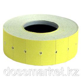 Этикет лента , (ценник) 22*12мм, жёлтая. 800 шт ценников  в рулоне, SPONSOR