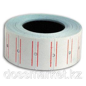 Этикет лента , (ценник) 22*12мм, белая. 1000 шт ценников  в рулоне, SPONSOR