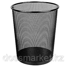 Корзина для мусора, металлическая, сетка, чёрная, 31*31*76,5см, DELI