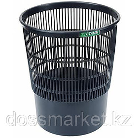 Корзина для мусора, 18л, сетчатая, чёрная, СТАММ