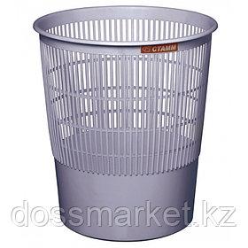 Корзина для мусора, 18л, сетчатая, серая, СТАММ