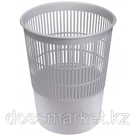 Корзина для мусора, 14л, сетчатая, серая, СТАММ