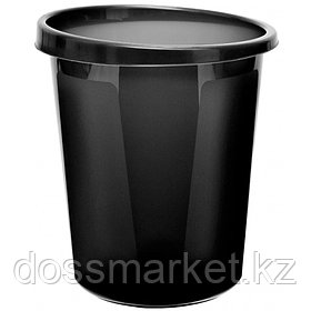 Корзина для мусора, 9л, цельная, чёрная, СТАММ