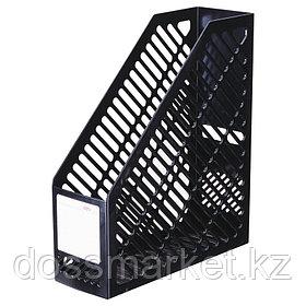 Лоток для бумаг вертикальный, пластик, черный, DELI