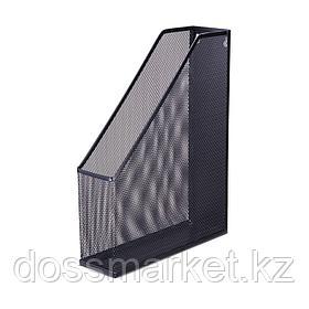 Лоток для бумаг вертикальный, металлический, чёрный, DELI