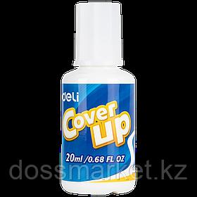 Корректирующая жидкость с кисточкой, 20мл, DELI