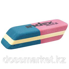 Ластик, каучуковый, 14*40*8мм, красно-синий, INDEX,
