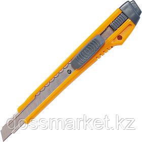 Нож канцелярский, 9мм, ассорти, автофиксатор, INDEX