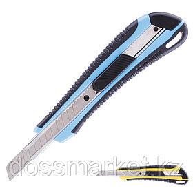Нож канцелярский, 9 мм, усиленный, ассорти, DELI