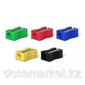 Точилка пластиковая, 1 отверстия, ассорти, ErichKrause®