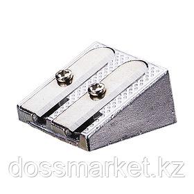 Точилка металлическая, с 2 лезвием, DELI