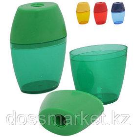 Точилка пластмассовая, с 1 лезвием, контейнер, INDEX