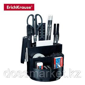 Набор офисн, вращающийся, 12 предметов, черный, ERICH KRAUSE