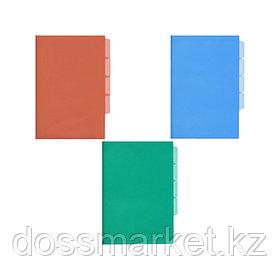 Уголок пластиковый, А4, ассорти, 0,15мм, 12шт в упаковке, на 3 деления, цена за 1 шт, SPONSOR