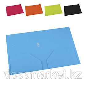 Уголок пластиковый, А4, ассорти, 2 деления, 0,40мм, DELI
