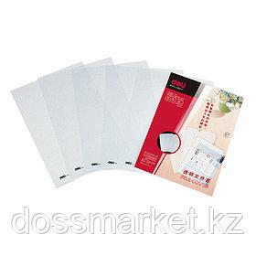 Уголок пластиковый, А4, прозрачный, 0,18мм, 10 шт в упаковке, цена за 1 шт