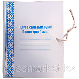 Папка на завязках, белая, 280г/м2, картон не мелованный, А4, ICON