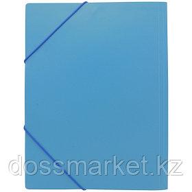 Папка на резинках, пластик., А4 , синяя. SPONSOR