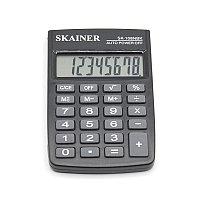 """Калькулятор карманный SKAINER """"108NBK"""", 8 разрядный, размер 58*88*10 мм."""