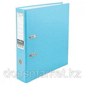 Регистратор, 5см, голубой, А4, ПВХ - одностор., 1300 гр,метал. оконт., INDEX