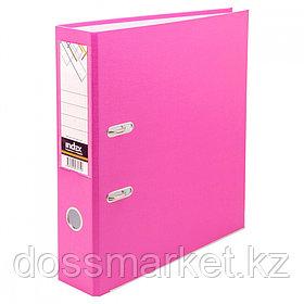 Регистратор, 7см, розовый, А4, ПВХ - одностор., 1300 гр,метал. оконт., INDEX