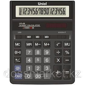 Калькулятор бухгалтерский ,16 р., 203*158*30.5 мм, UNIEL