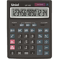 Калькулятор бухгалтерский ,14 р., 206*155*35 мм, UNIEL
