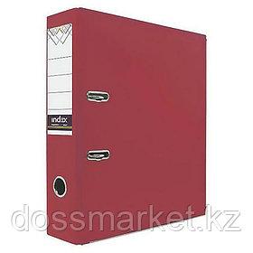 Регистратор, 7см, красный, А4, ПВХ - одностор., 1300 гр,метал. оконт., INDEX