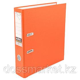 Регистратор, 5см, оранжевый, А4, ПВХ - одностор., 1300 гр,метал. оконт., INDEX
