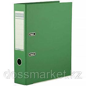 Регистратор, 5см, зелёны, А4, ПВХ - одностор., 1500 гр,метал. оконт., разобранный,50шт в кор, KUVERT