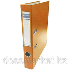 Регистратор, 5см, оранже, А4, ПВХ - одностор., 1500 гр,метал. оконт., разобранный,50шт в кор, KUVERT