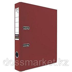 Регистратор, 5см, красный, А4, ПВХ - одностор., 1500 гр,метал. оконт., разобранный,50шт в кор, INDEX
