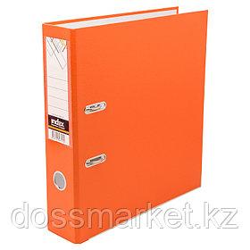Регистратор, 7см, оранжевый, А4, ПВХ - одностор., 1500 гр, метал.оконт., разобранный,50шт в ко INDEX