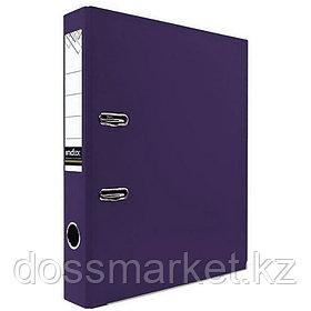 Регистратор, 5см, фиолетовый, А4, ПВХ - одностор., 1300 гр,метал. оконт., INDEX