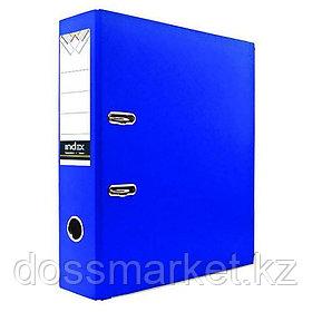 Регистратор, 7см, синий, А4, ПВХ - одностор., 1300 гр,метал. оконт., INDEX