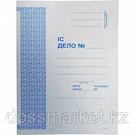 Скоросшиватель картонный, ДЕЛО, 260г/м2, не мелованный, пробитая вставка, KUVERT