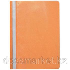 Скоросшиватель пластиковый, А4, оранжевый. 0,15мм. SPONSOR