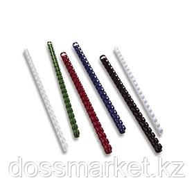 Пружины для переплета пластиковые, 10мм, до 60л, цв. белый, FELLOWES