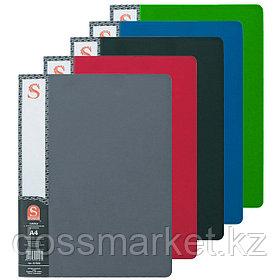 Папка с 40 файлами, ассорти, А4, пластик.