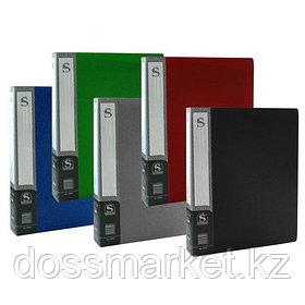 Папка с 80 файлами, ассорти, А4, пластик.