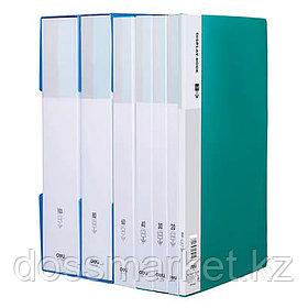 Папка с 60 файлами, ассорти, А4, пластик. DELI