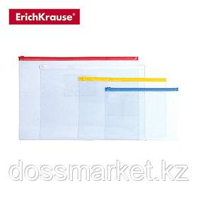 Папка на молнии А4, PVC Zip Pocket, прозрачный, ERICH KRAUSE