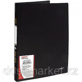Папка с боковым зажимом А4, чёрная,  0,60мм