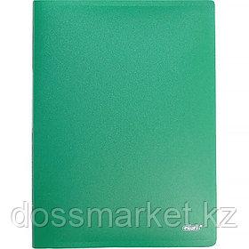 Папка с боковым зажимом А4, зелёная,  0,60мм