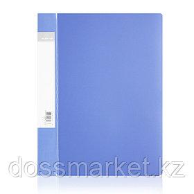 Папка с боковым зажимом  и внутр. карманом  А4, синие , DELI