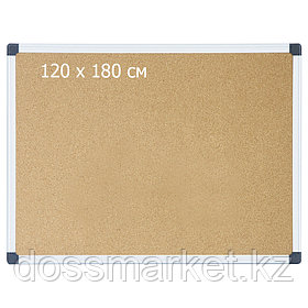Доска пробковая, 120*180см, метал. рамка. DELI