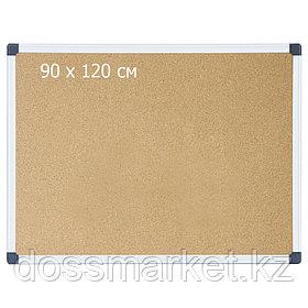 Доска пробковая, 90*120см, метал. рамка. DELI