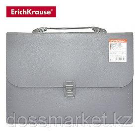 Портфель, А4, 12 отделений, серый, ATTACHE, ERICH KRAUSE
