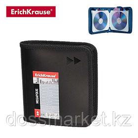 Футляр для CD с 24 карманами, MEGAPOLIS, черный, ERICH KRAUSE