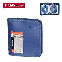 Футляр для CD с 24 карманами, MEGAPOLIS, синий, ERICH KRAUSE